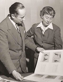 John Halas and Joy Batchelor at work.